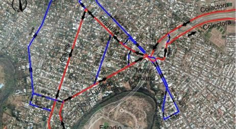 Cambia el sentido de circulación Laplace, Recta Martinoli y Gauss