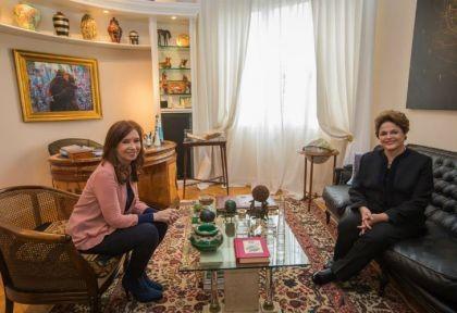Dilma fue recibida por CFK y luego participó de un acto de la CGT