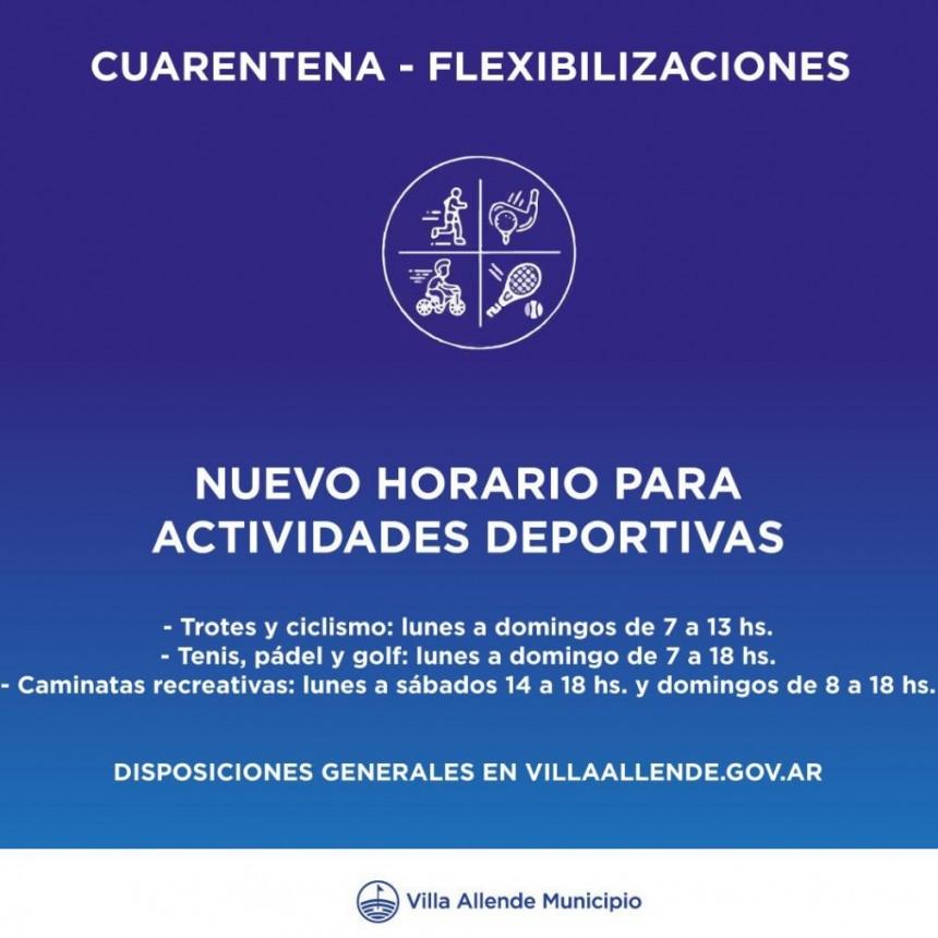 Más flexibilidad para algunas actividades