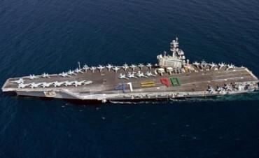 Barack Obama envió un portaaviones a Iraq