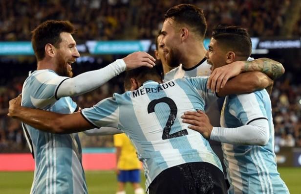 Argentina venció a Brasil en Australia en el primer partido de Sampaoli