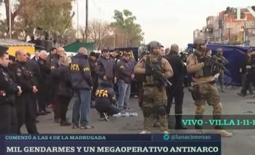 Megaoperativo antinarco en la villa 1-11-14: participan más de mil gendarmes