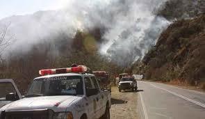 Extinguieron el incendio y rehabilitaron el camino viejo a las Altas Cumbres
