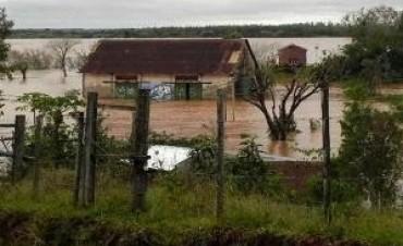 Hay 50 familias evacuadas por crecida del Paraná en Santa Fe