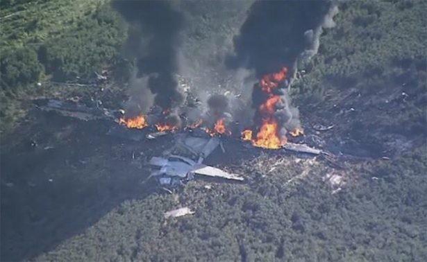 Se estrelló un avión militar en Mississippi: hay 16 muertos