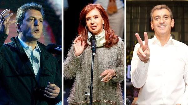 Sergio Massa, Cristina Kirchner y Florencio Randazzo comenzaron la campaña con duras críticas al Gobierno
