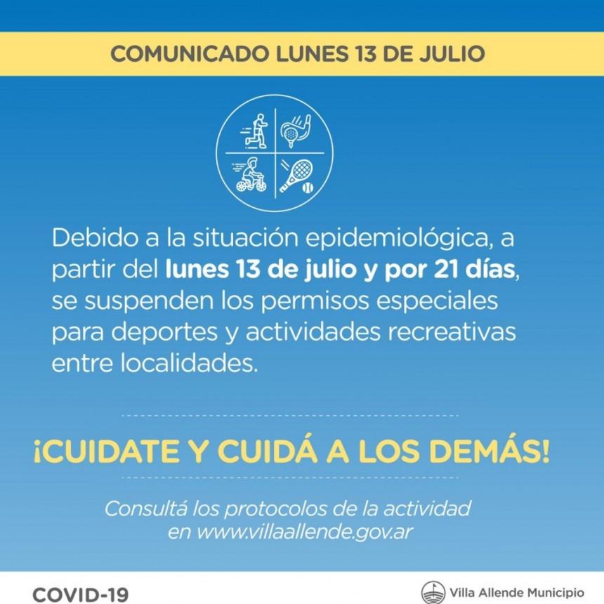 Cambios en flexibilizaciones, en Villa Allende por infecciones en Córdoba