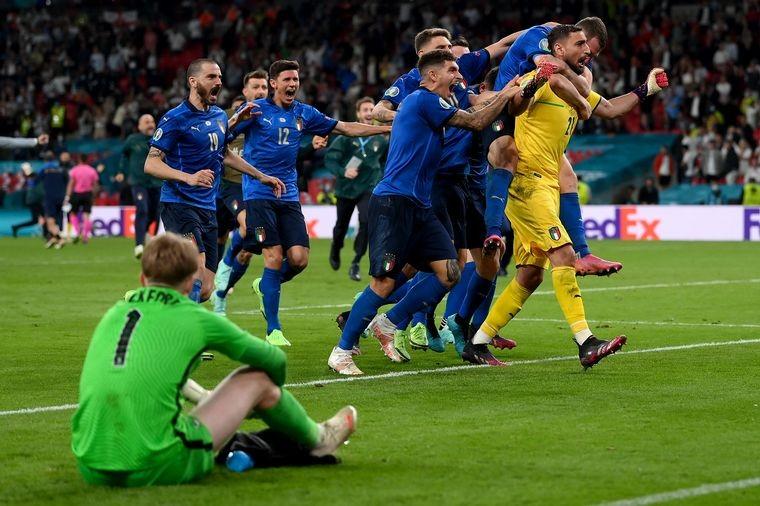 Italia, campeón: venció por penales a Inglaterra en Wembley
