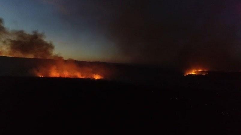 Incendio en la zona de Malagueño