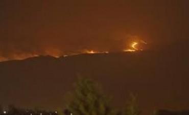 Potrero de los Funes por altas temperaturas, un incendio de proporciones