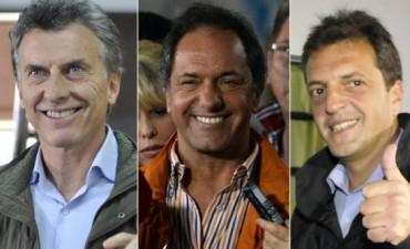 Scioli, Macri y Massa buscan convencer a votantes de otros espacios para octubre