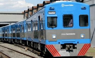 No hay servicio en el ferrocarril Sarmiento por medida de fuerza