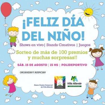 Villa Allende festeja el Día del Niño