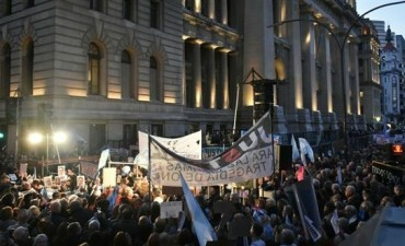 Marcha contra la corrupción en Tribunales: fuerte reclamo contra la impunidad