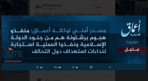 El Estado Islámico se adjudicó el ataque