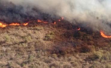 Combaten dos focos de incendio en Córdoba