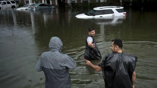 El huracán Harvey provocó