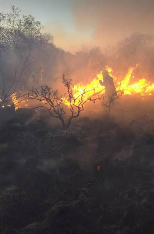 Bomberos controlan incendio en el Valle de Traslasierra