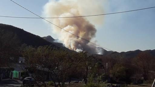 Bomberos apagaron tres incendios forestales en Córdoba