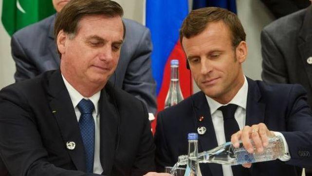 Macron habló del Amazonas y Bolsonaro lo tildó de