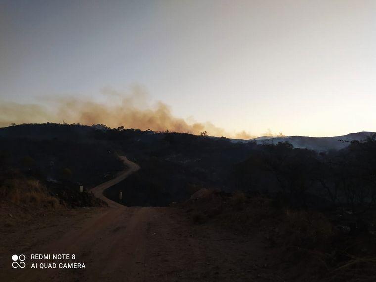Incendio de gran magnitud en Salsipuedes