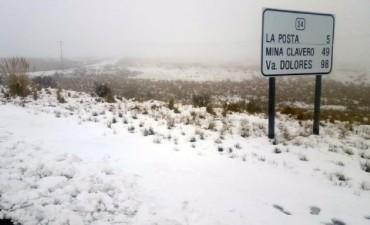 Por nevadas esra cortado el Camino de las Altas Cumbres