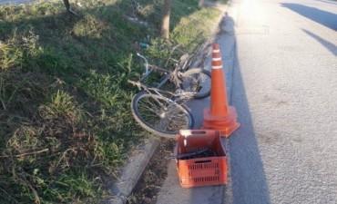 Un ciclista murió arrollado por un automovilista que se fugó