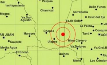 Fuerte sismo en el límite entre La Rioja y Córdoba