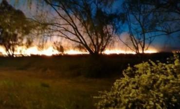 Estuvo cortada la autopista Córdoba-Carlos Paz  por incendios