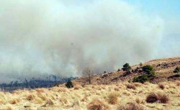 Un hombre detenido por iniciar un incendio en Traslasierra