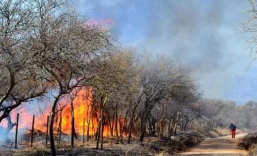 Dos incendios complicados en otra jornada de riesgo extremo