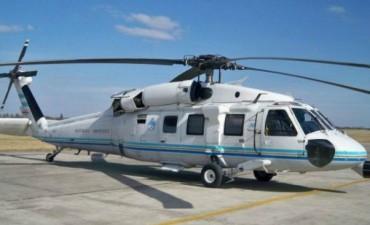 El helicóptero de Macri aterrizó