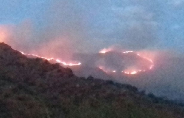 Sigue activo el incendio en Santa María de Punilla y se aproxima a Sierras Chicas