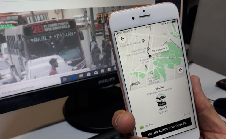 Secuestraron otro auto de Uber en la ciudad de Córdoba