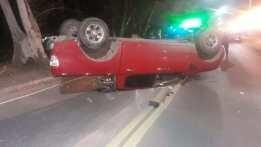 Volcó un auto en Unquillo: no hubo heridos