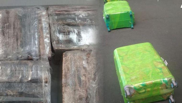Secuestran en Ezeiza 250 kilos de cocaína que iban a España
