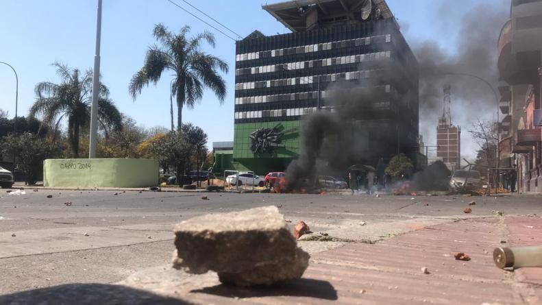 EPEC: incidentes, heridos y detenidos en la protesta de Luz y Fuerza