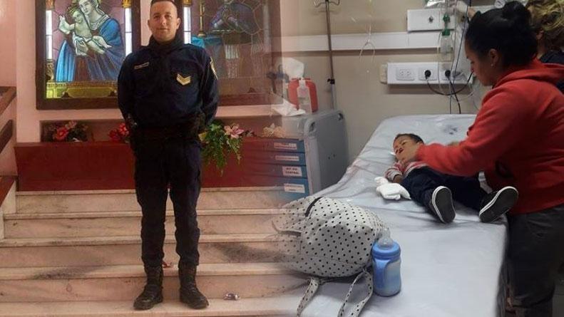 Un policía le hizo RCP a un bebé en medio de la calle y le salvó la vida