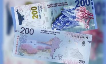 Presentaron el nuevo billete de 200 pesos en Puerto Madryn