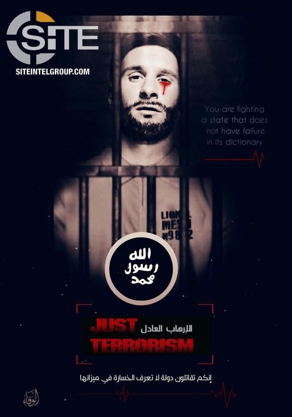 ISIS utilizo la cara de Messi como tapa de una amenaza para Rusia 2018