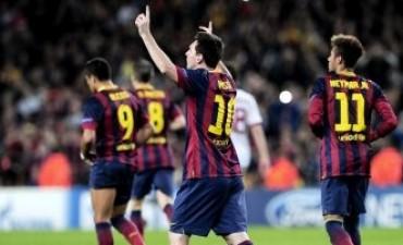 Champions League: Messi volvió al gol y de su mano el Barcelona le ganó al Milan en el Camp Nou