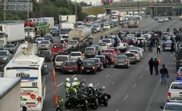 Tensión en Panamericana: una protesta complicó el día