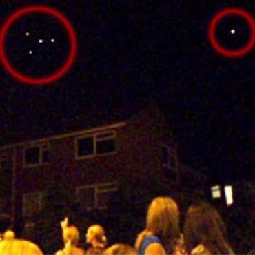 Impresionantes imágenes de OVNIS en barrio de Flores