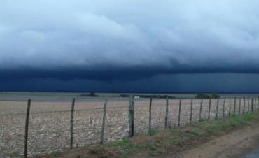 Un fuerte temporal sacudió localidades del sur cordobés