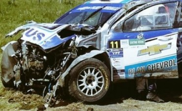 Nalbandian sufrió un terrible vuelco en el Rally Argentino