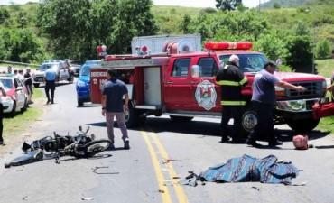 Motociclista murió en la colectora de la autopista Córdoba-Carlos Paz