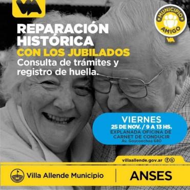 Anses visita Villa Allende