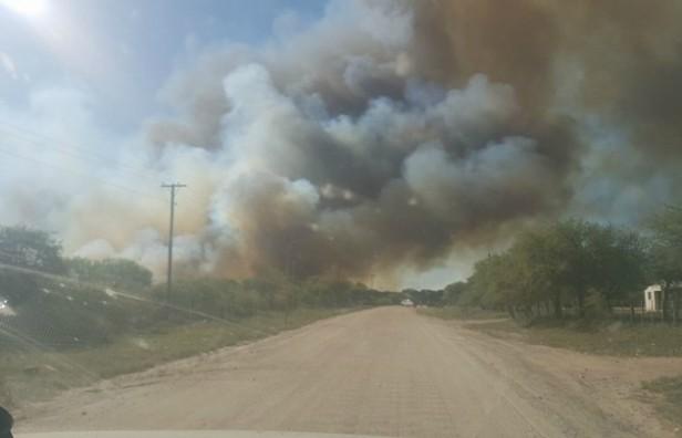 Se quemaron alrededor de 10 hectáreas en Guasapampa