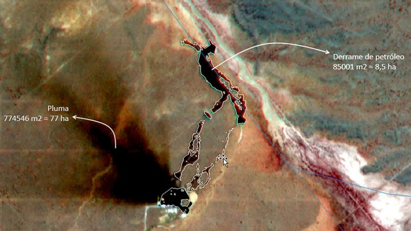 Un derrame de petróleo en Vaca Muerta afectó a más de 85 mil metros cuadrados