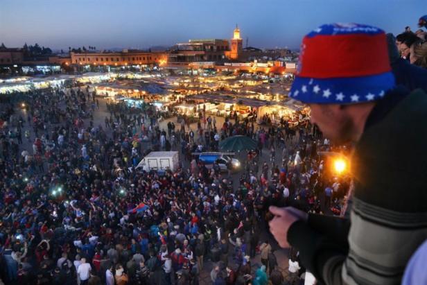 Hasta fue Viggo: otro multitudinario banderazo de San Lorenzo en Marruecos